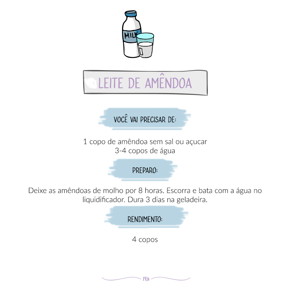 receira leite de amêndoa