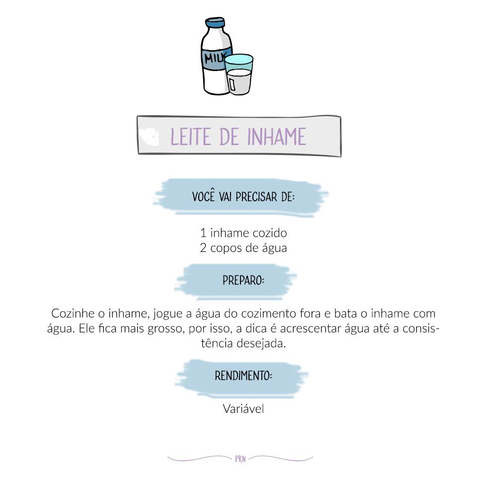 receira leite de inhame